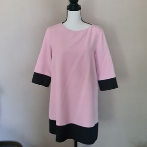 Pink and Black Elegant Dress